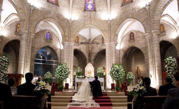 Wedding in a Catholic Church in Spain