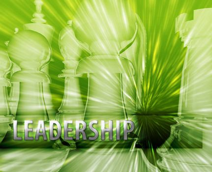 Abstract leadership business strategy management chess themed illustration