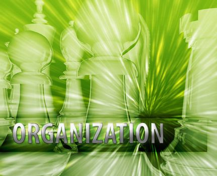 Abstract organization business strategy management chess themed illustration