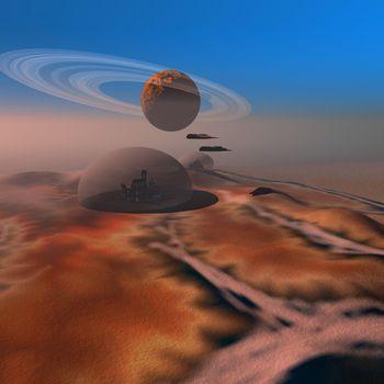 Life under domes on Mars.