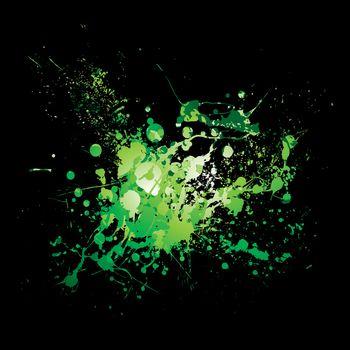 dribble green splat