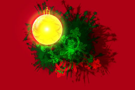Abstract design of an ornament.