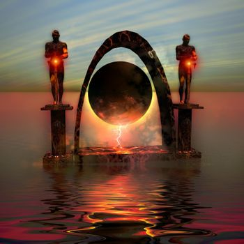 A portal to another dimensional world.