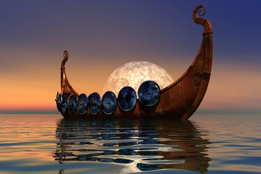 The boat and battle armor of the Viking culture.
