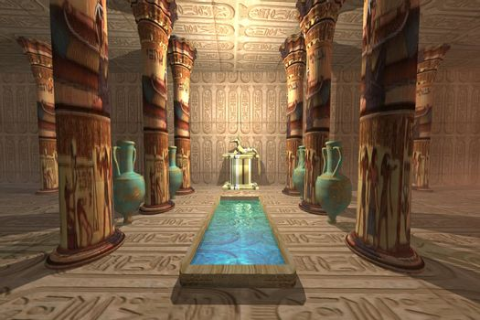 A temple to worship the Egyptian god Anubis.