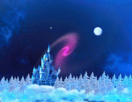 The fairy tale castle of Santa Claus.