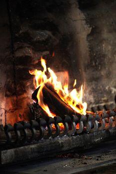 a woodburning stove
