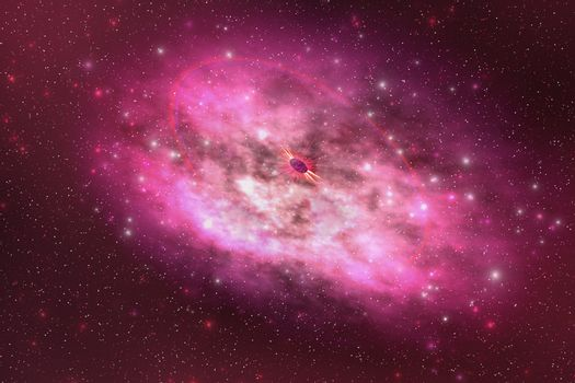 A huge nebula contains millions of stars and planets.