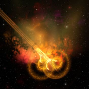 Stars and gasses collide to form this spacial phenomenon.