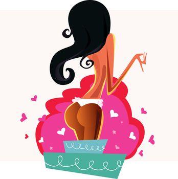 Cake strip girl
