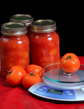 Jars of Tomatoes
