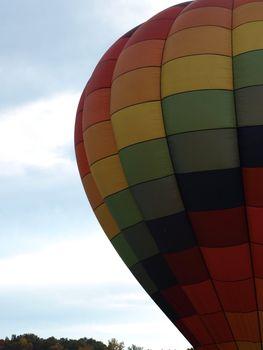 Hot air balloon festival in rural North Carolina.