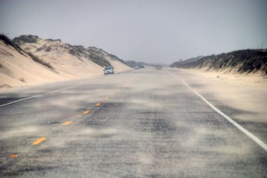 Road in South Padre Island, Texas
