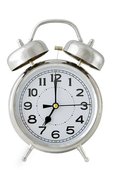 alarm clock on white