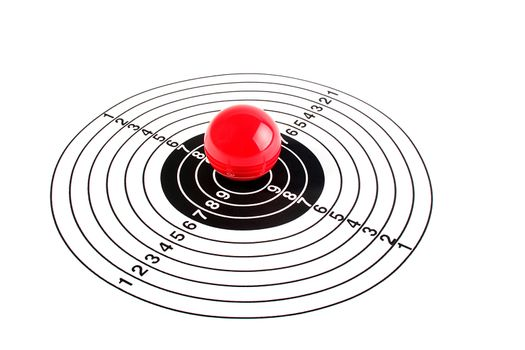 Target with a red ball