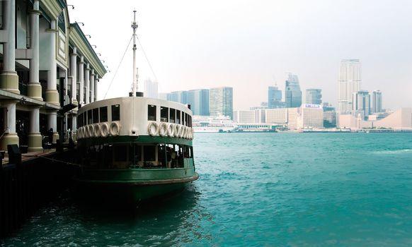 ferry landing in Honk Kong