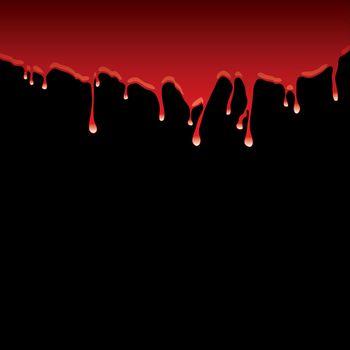 blood dribble black