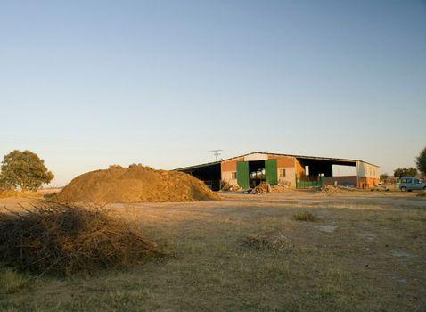 A farm on a filed