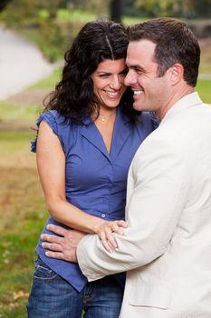 Couple Laugh