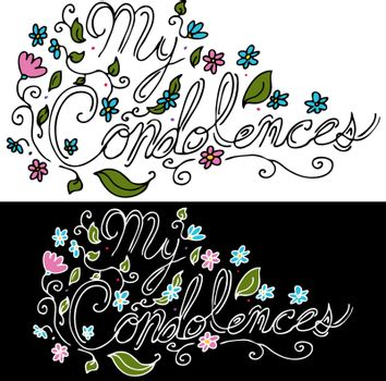 An image of a My Condolences floral message.