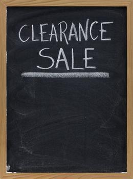 clearance sale blackboard sign