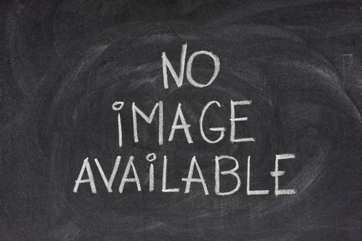 no image available text on blackboard