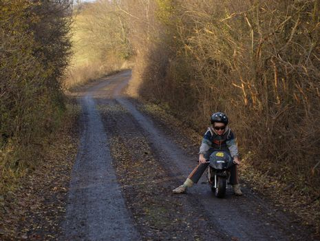 the journey of small biker