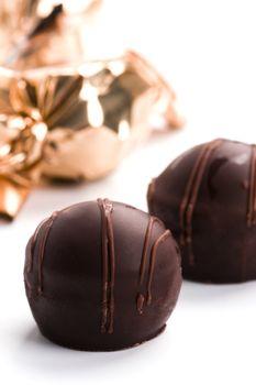 chocolate candies closeup