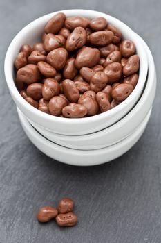 Raisins covered in delicious chocolate