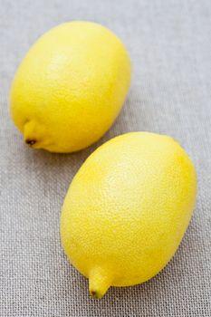 Two fresh lemons