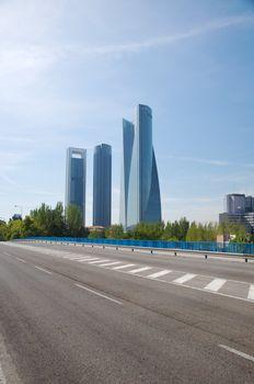 asphalt and skyscrapers