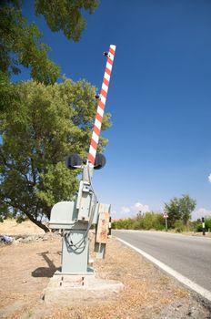 level crossing barrier