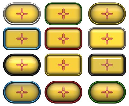 12 buttons of the Flag of New Mexico