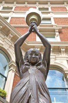 egyptian woman sculpture detail
