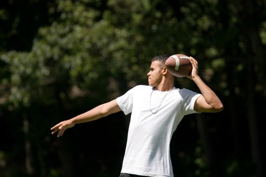 Tossing the Fooball