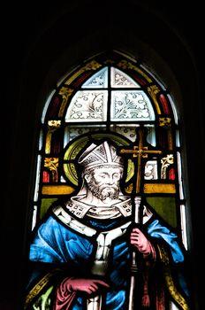 saint on glasswork