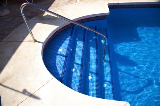 tile stairs pool
