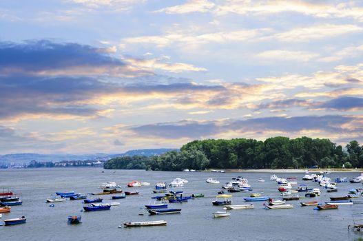 River boats on Danube