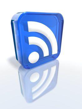Blue RSS sign
