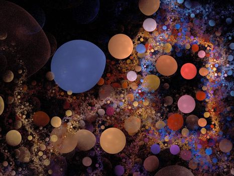 Abstract Bubblered Background