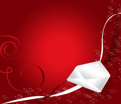 greeting card with a red background gradie