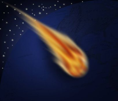 Comet that touches the earth