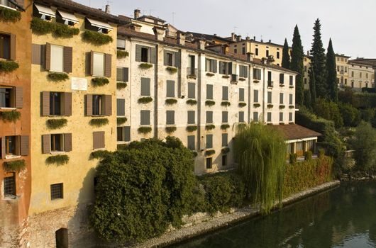footprints of the houses of the French pallotole Bassano del Grappa
