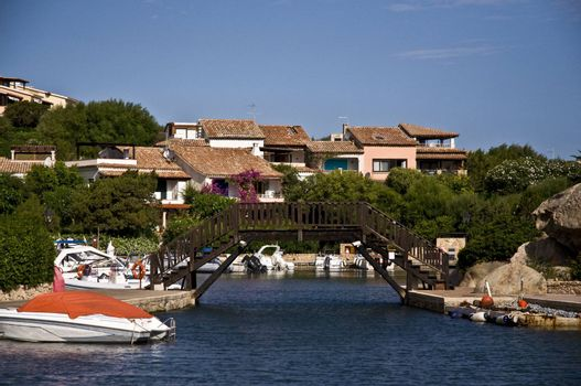 Homes and boats in Porto Cervo