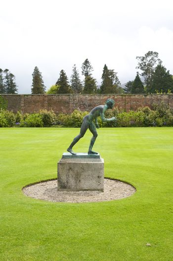 statue at the lawn