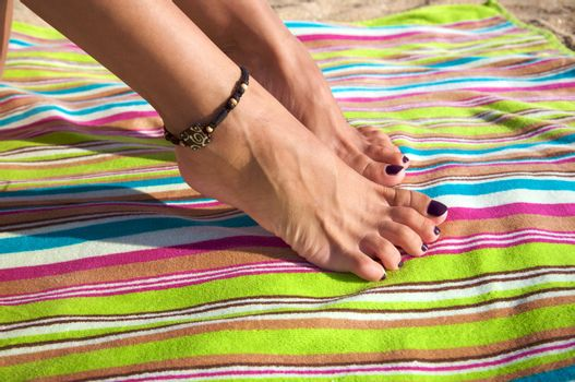 woman ankle with bracelet