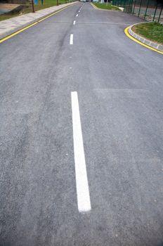lines on asphalt