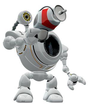 Robot Web Cam Pointing Ray Gun