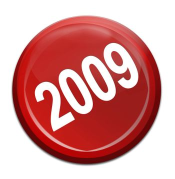 2009 new year red icon