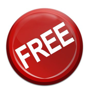 isloated free red icon